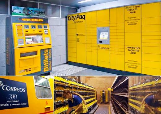 Correos instalará en RENFE taquillas para el comercio electrónico