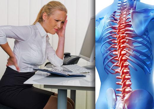 Evitar el dolor de espalda en la oficina