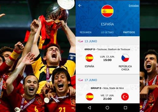 Aplicaciones de seguimiento para la UEFA