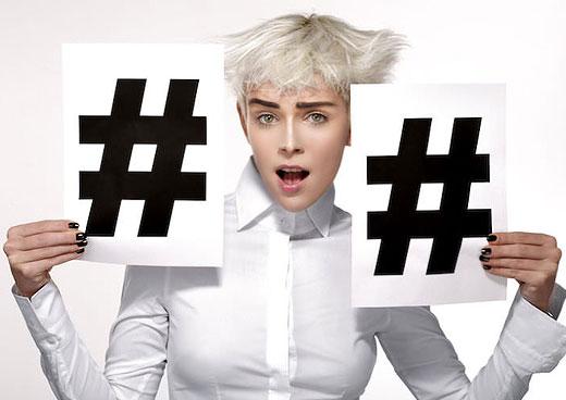 El uso de #hashtags