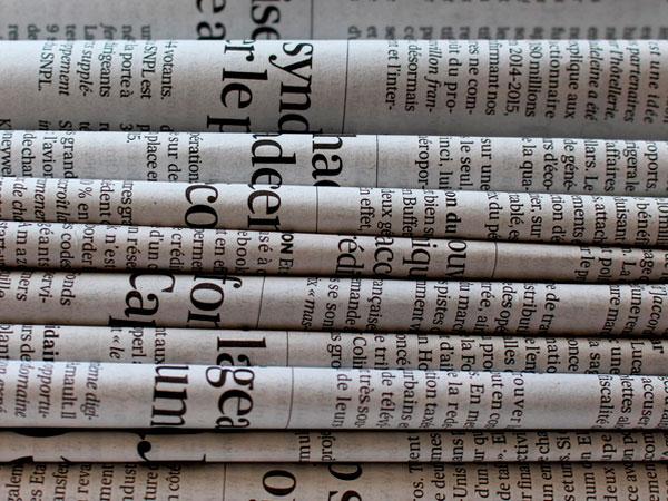 Prensa en papel clásica