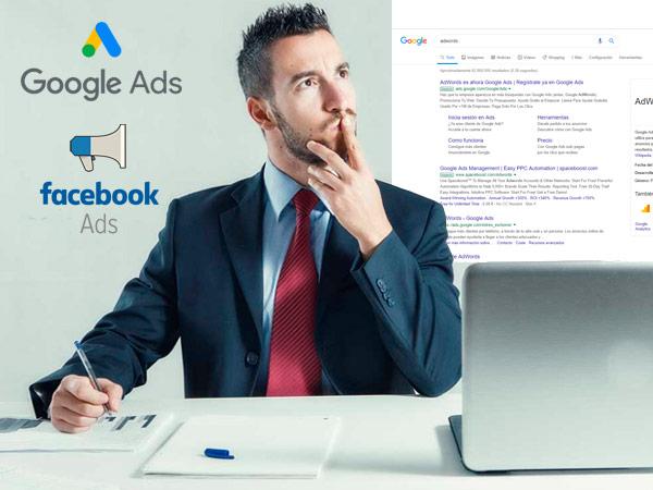 Invertir en Google Adwords y Facebook Ads