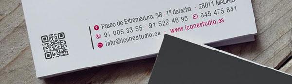 tarjeta de visita qr code